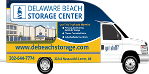 Delaware Beach Storage Center moving truck